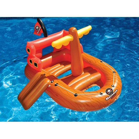 62 Galleon Raider Inflatable Swimming Pool Pirate Ship Floating Boat Toy