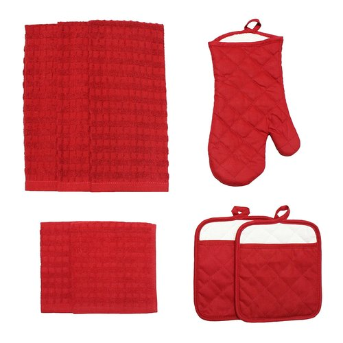 J & M Home Fashions Solid 8 Piece Kitchen Towel Set by J & M Home Fashions