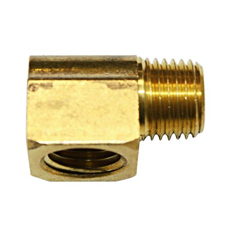 Brass 90 Elbow - Interstate Pneumatics FST44E Brass Street Pipe Elbow Fitting 1/4