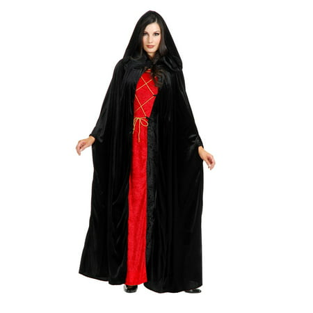 Halloween Hooded Cloak Adult Costume](Black Cloaks)