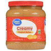 Great Value Creamy Peanut Butter, 64 oz