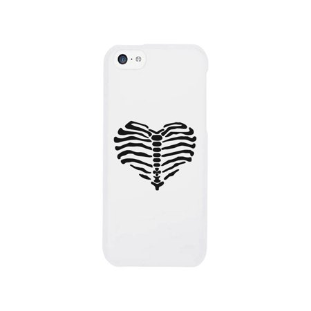 Phones 4 U Halloween (Skeleton Apple iPhone 5C White Cute Halloween Phone Cases For)