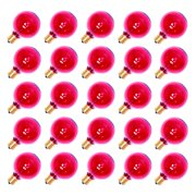 Sival 70174 - G50 Intermediate Screw Base Transparent Pink (25 pack) Christmas Light Bulbs