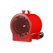 TPI Corporation ICH-240-C Jobsite/Utility Fan Forced Portable Electric Heater, 4.0kW, 240/208-Volts, Includes Carrying Handle & Thermostat, 20-Amp Cordset, Red
