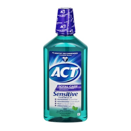 Act Total Care Anticavity Fluoride Mint Mouthwash  18Oz