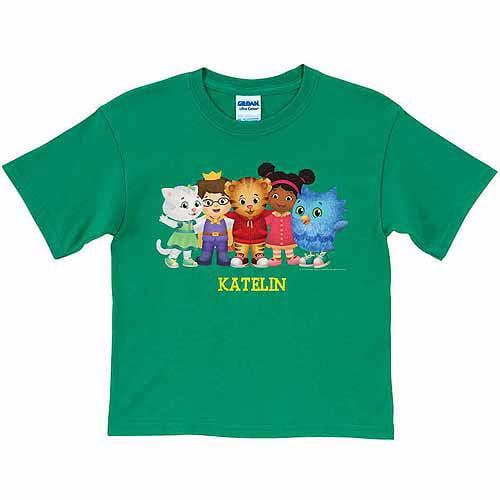 Personalized Daniel Tiger's Neighborhood Group Toddler Boys' Green T-Shirt