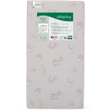 Simmons Kids BeautySleep Happy Forest with Air Sleep Comfort Crib and Toddler Mattress