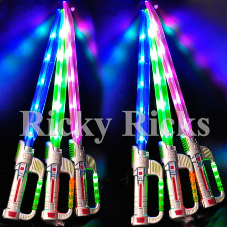 Light-Up Ninja Sword w/ Sound Flashing LED Toy Stick Lightsaber Fx Glow - Led Glowstick