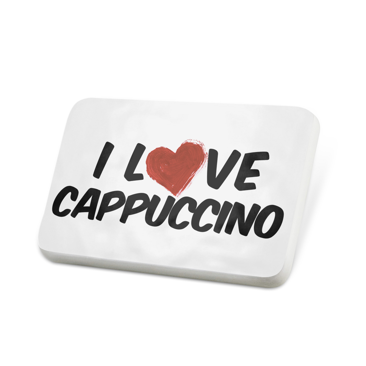Porcelein Pin I Love Cappuccino Coffee Lapel Badge – NEONBLOND