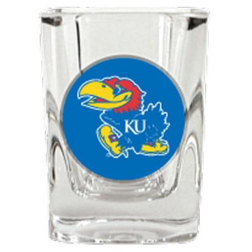 Kansas Jayhawks Official NCAA Square Shot Glass Great American Products 740363