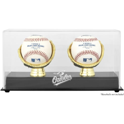 Baltimore Orioles Fanatics Authentic Gold Glove Double Baseball Logo Display Case - No Size