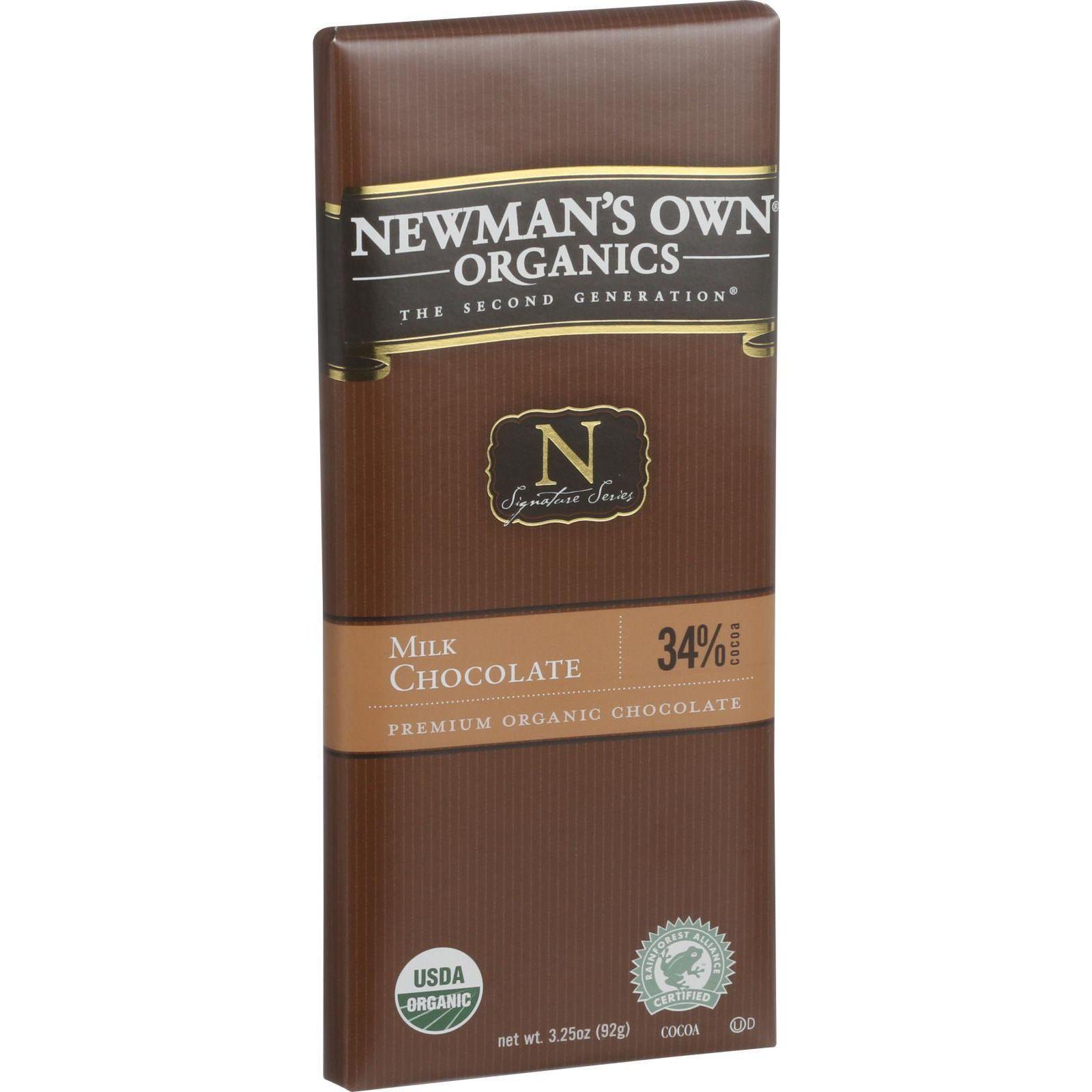 Newmans Own Organic, Chocolate Bar Mlk Org, 3.25-Ounce (12 Pack)