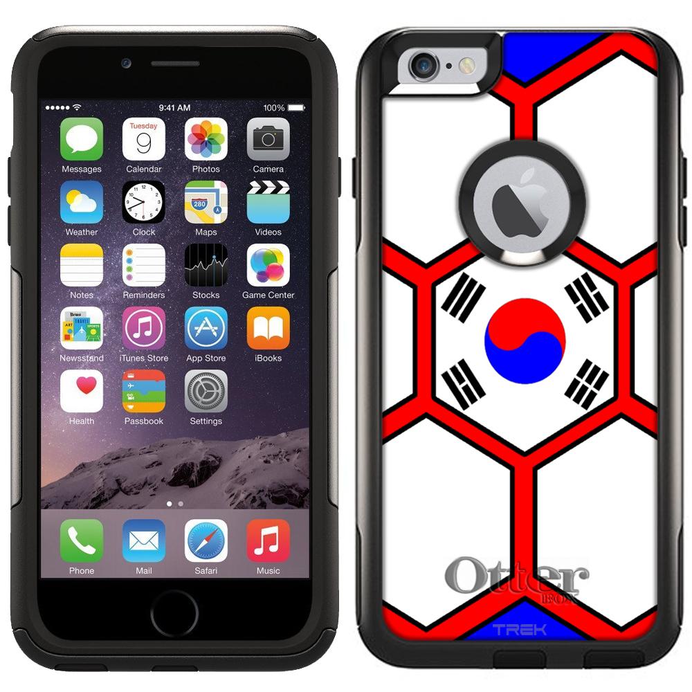 Otterbox Commuter Case for Apple iPhone 6 Plus Soccer Ball Korea Flag by Trek Media Group