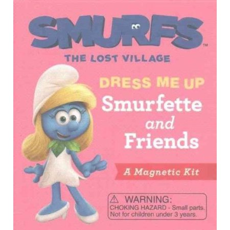 Smurfs The Lost Village  Dress Me Up Smurfette And Friends  A Magnetic Kit