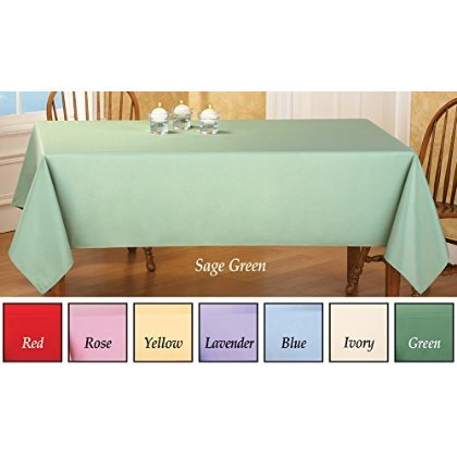 "Basic Rectangular Tablecloth Table Linens Rectangle Yellow 60"" X 90"" by"