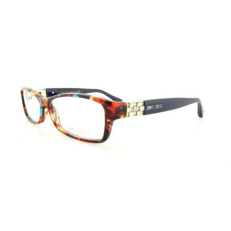 JIMMY CHOO Eyeglasses 41 09DT Spotted Havana Blue 53MM