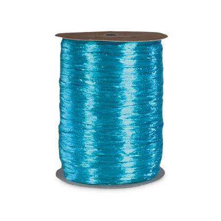 Pearlized Aqua gift packaging Raffia Ribbon
