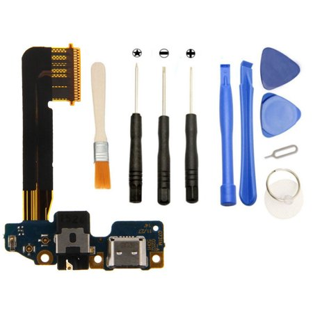 Games&Tech Charging Charger USB Port Dock Connector Microphone Mic Microphone + Headphone Jack Flex Cable + Tools for HTC One M10 - image 1 de 1