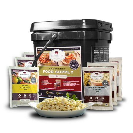 Wise 84 Serving Freeze Dried Entree and Breakfast Grab and Go Bucket - Halloween Food Entrees