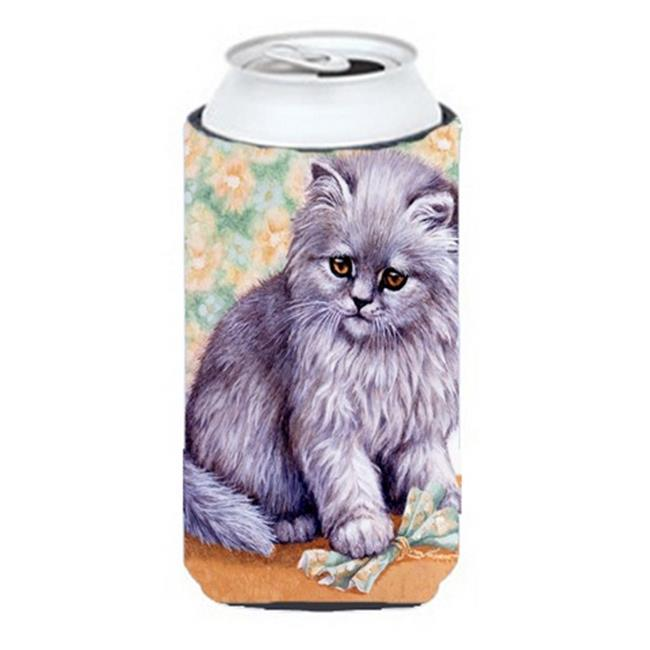 Carolines Treasures BDBA254ATBC Grey Cat by Daphne Baxter Tall Boy Can cooler Hugger - image 1 de 1