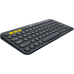 Logitech K380 Multi-Device Bluetooth Keyboard - Wireless Connectivity - Bluetooth - 79 Key - Compatible with Computer, Tablet, Smartphone, Smart TV - QWERTY Keys Layout - Black CONNECT UP TO 3