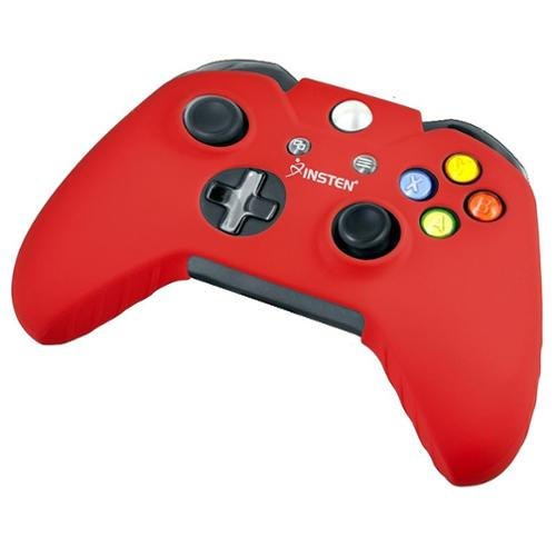 Insten Red Silicone Skin Case For xBox One / xBox One S / xBox One X Remote Controller