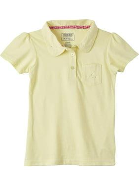 Cherokee Girls 4-16 School Uniform Polo Shirt with Rhinestones