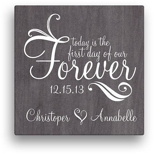 """Personalized Forever Canvas Wall Art, 16"""" x 16"""""""