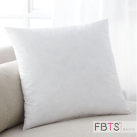 Pillow Insert 18 by 18 Inches Down Alternative Square Premium Hypoallergenic Stuffer Sham Form Cushion Polyester Cotton Indoor Sofa and Bed Pillows by FBTS (Dream Pillow Sham Insert)