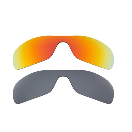 Oil Rig Replacement Lenses Polarized Black Iridium & Red by SEEK fits (Oakley Oilrigs)