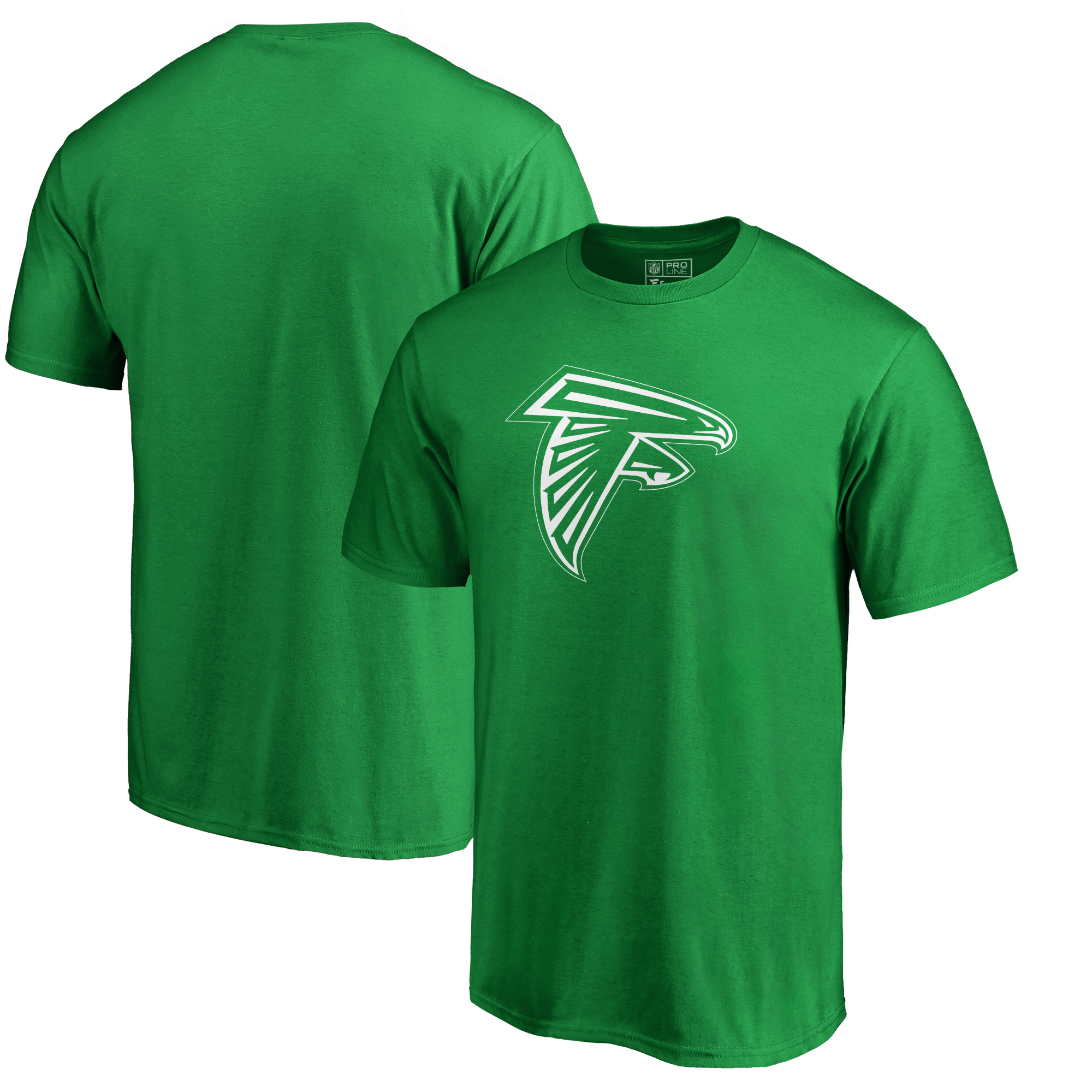 Atlanta Falcons NFL Pro Line by Fanatics Branded Big & Tall St. Patrick's Day White Logo T-Shirt - Green