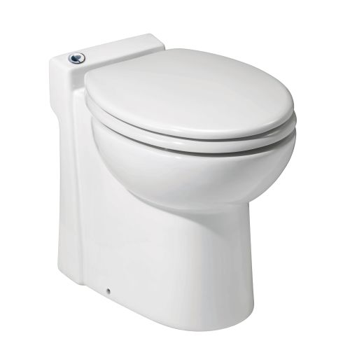 Saniflo 023 SANICOMPACT 48 Ounce, One-Piece Toilet With Macerator Built Into The