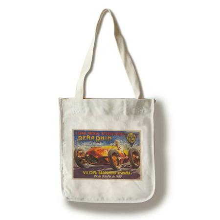 X Grab Premio Internacional Pena Rhin Vintage Poster (artist: Garcia) Spain c. 1950 (100% Cotton Tote Bag - Reusable) (Grab Bag Co)