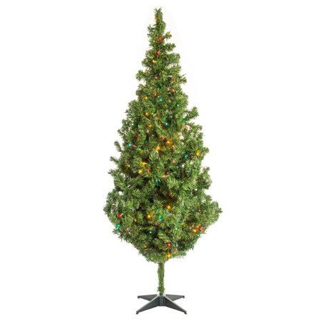 - 7' Rocky Mountain Pine Christmas Tree w/ Multi-Color Lights