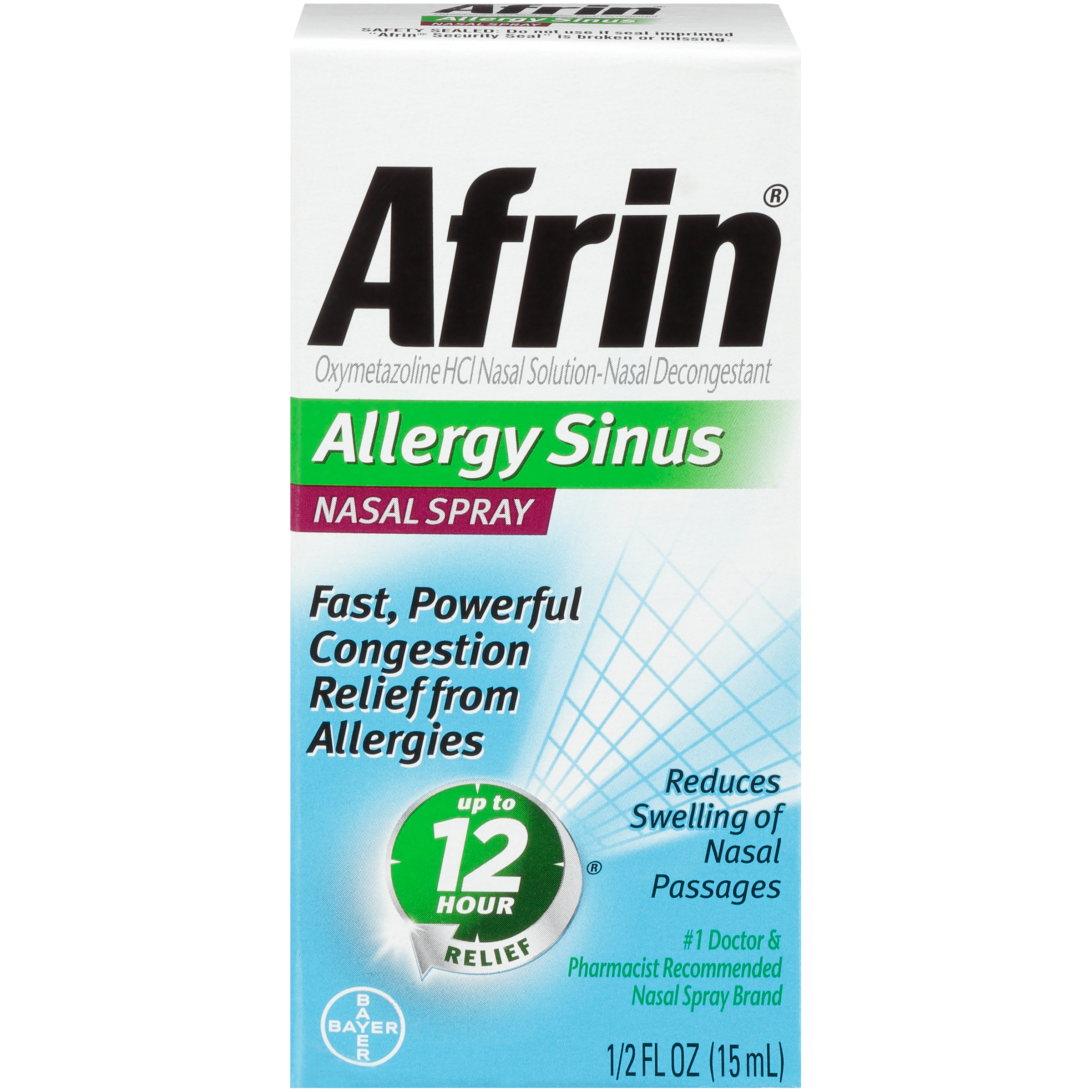 Afrin Allergy Sinus Congestion Relief Nasal Spray, 0.5 Fl Oz