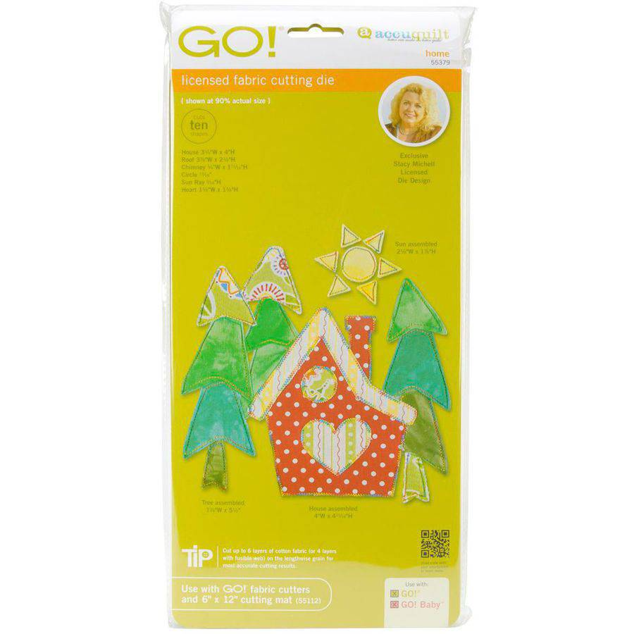 AccuQuilt Go! It Fits! Fabric Cutting Dies: Home Multi-Colored