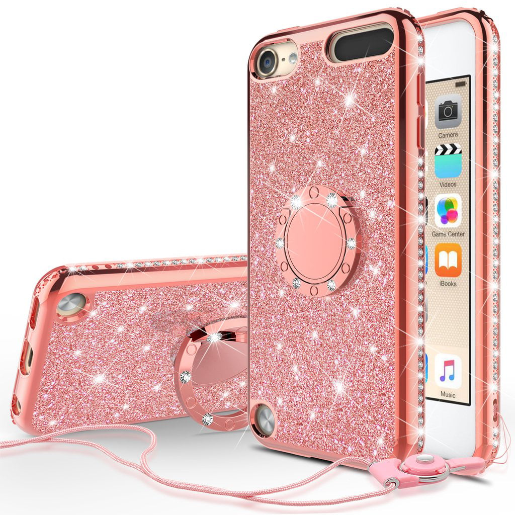 Ipod Touch 7 Case Ipod 7 6 5 Case Glitter Cute Phone Case Girls Women With Ring Kickstand Bling Protective Case For Apple Ipod Touch 5 6th 7th Generation New Ipod Touch Case Rose Gold Walmart Com Walmart Com