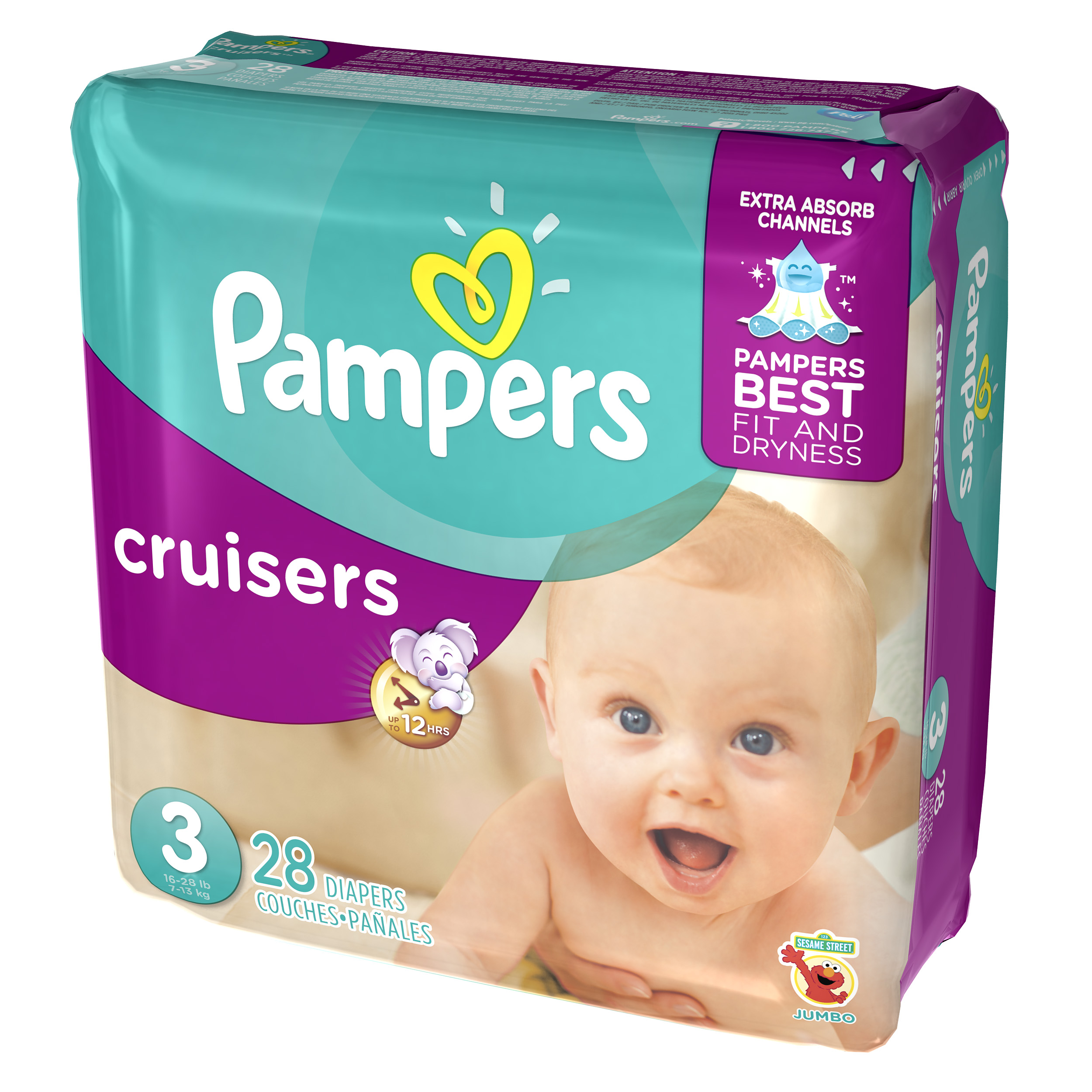 Pampers Cruisers Diapers Size 3 28 count