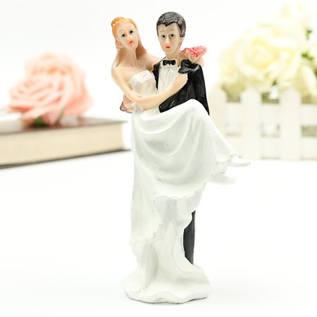 Bride and Groom Wedding Cake Topper  of Love Wedding Romantic Couple Love Favors Figurine Decor DIY Craft Cupcake Decoration Cake Topper (Bride And Groom Halloween Cake Topper)