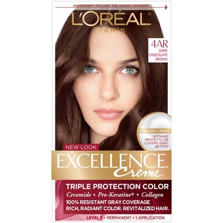 L'Oreal Paris Excellence Creme Triple Protection Permanent Hair Color Creme, Dark Chocolate Brown 4AR Cooler 1.0 ea(pack of - Teen Chest Hair