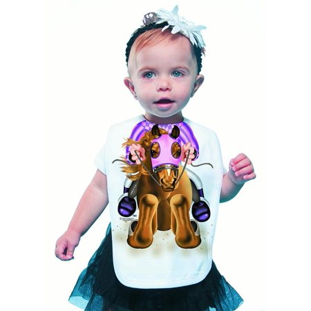 Girls Bib Overall - Racehorse Girl Bib