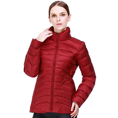 Puredown Weatherproof Women's Packable Down Puffer