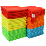 "S&T Bulk Microfiber Kitchen, House, & Car Cleaning Cloths - 50 Pack, 11.5"" x 11.5"