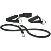 ProsourceFit Single Stackable Resistance Bands with Door Anchor and Exercise Guide, 5-50 lb
