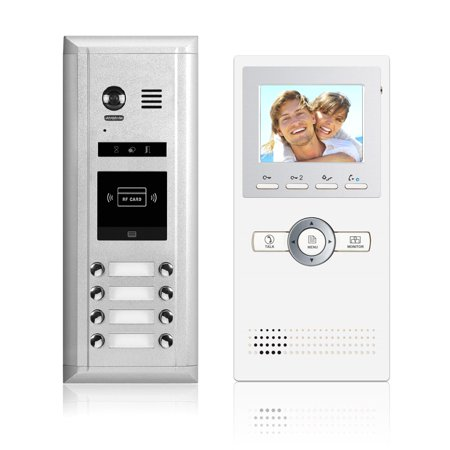 Video Intercom Entry System DK1681 8 Apartment Audio/Video Kit (8 monitors