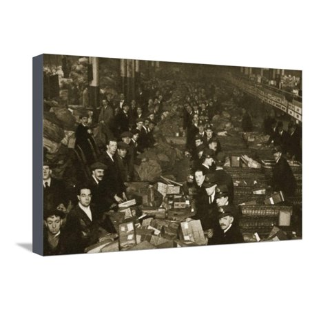 Sorting parcels at the Post Office, Mount Pleasant, London, 20th century Stretched Canvas Print Wall