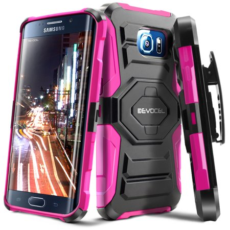 Evocel  Galaxy S6 Edge Plus  New Generation  Rugged Holster Dual Layer Case  Kickstand  Belt Swivel Clip  For Galaxy S6 Edge Plus  Pink