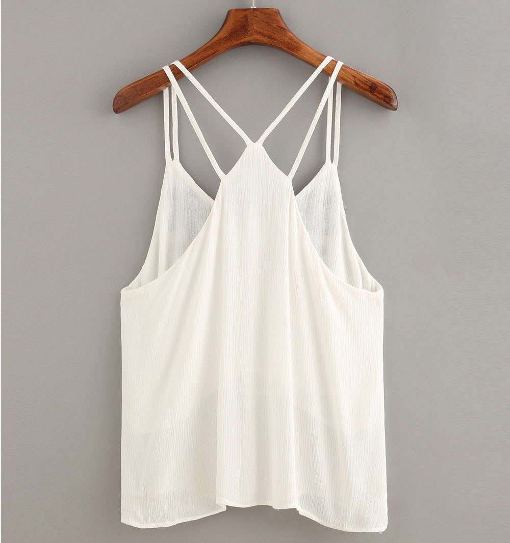 8c99906016f84c Women Tank Tops Flower Embroidered Strappy Cami Top S - Walmart.com
