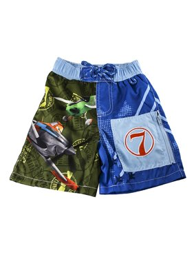 Disney Store Boys Dusty & Ned - Planes - Swim Trunks, Blue/Green