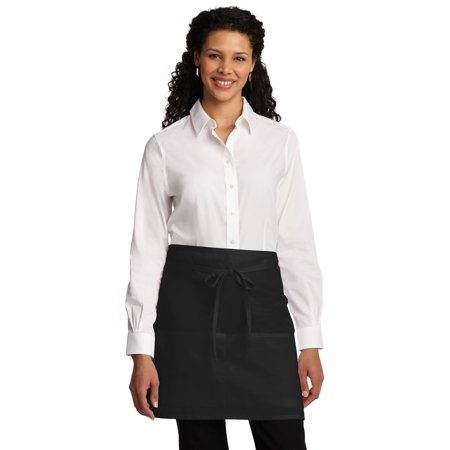 Port Authority® Easy Care Half Bistro Apron With Stain Release. A706 Black Osfa - image 1 of 1